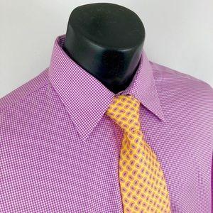 Brooks Brothers 1818 Dress Shirt 16.5 Checker Pink